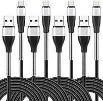 lightning ケーブル 【1m+1m+2m+2m】 合計4本 アイフォン充電 ライトニング 高耐久 スプリング保護 根元強化 急速充電&データ転送 柔軟性 iPhone XS/XS Max/XR/X/8/8Plus/7/7...