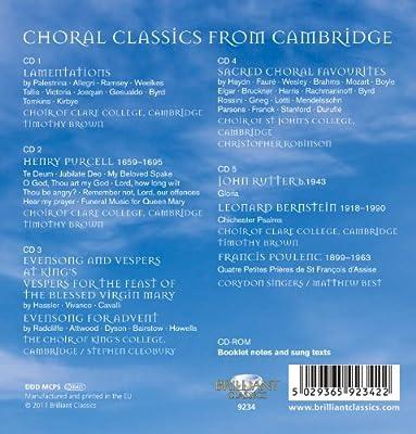 Choral Classics from Cambridge: Choir of Clare College, Cambridge: Amazon.es: Música