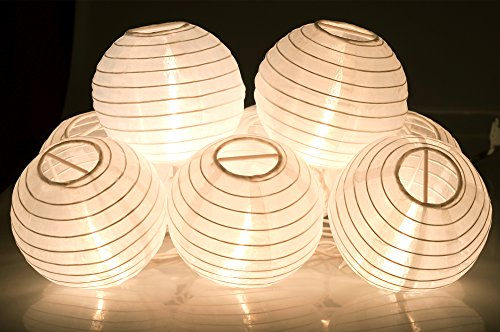 Outdoor Paper Lantern String Lights in US - 6