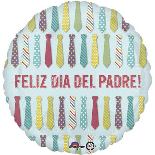 17-Inch Feliz Dia Del Padre Ties Balloon