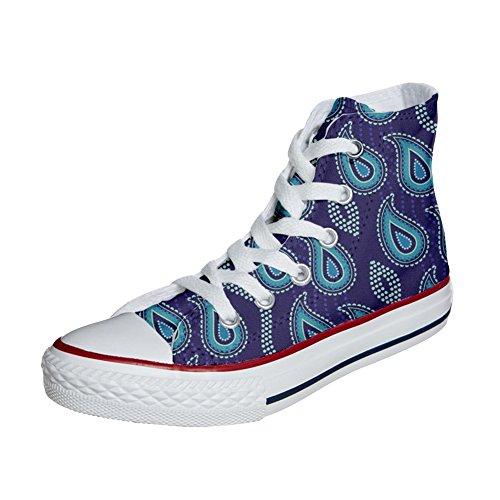 Converse All Star zapatos personalizados (Producto Artesano) Purple Paisley