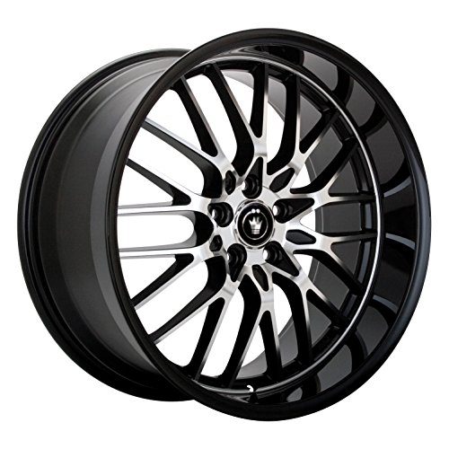 lace gloss black wheel with mirror machined