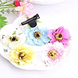 Pyrsun(TM) New arrival 1pcs about 6cm Hair Decoration Kids Headwear Children Hairgrips Baby Hairpins Girls Cloth Flower Hairclips