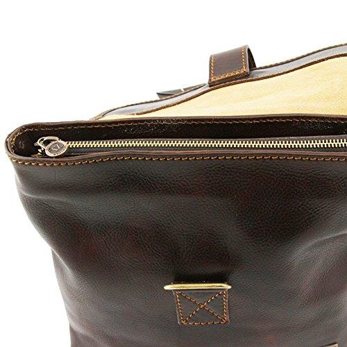 in di Leather tracolla Nero pelle Andrea 2 a Borsello TL9087 Moro Testa Tuscany qtd6wt