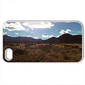 arizona - Case Cover for iPhone 4 and 4s (Deserts Series, Watercolor style, White)