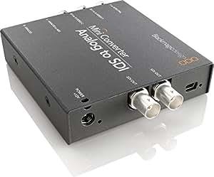 Blackmagic Design Mini Converter Analog - SDI - Conversor de vídeo (1080i,1080p,720p, Component/S-Video, SDI, 12 V, Negro, 0 - 40 °C)