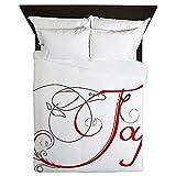 CafePress - Joy! - Queen Duvet Cover, Printed Comforter Cover, Unique Bedding, Microfiber
