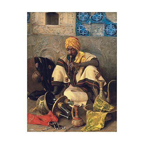 Trademark Fine Art The The Arab Smoker by Jean Discart, 18x24,