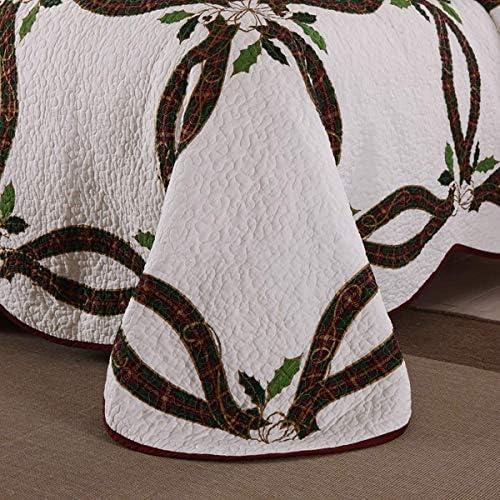 WYYAF Double Taille matelassée Couvre-lit Lavable en été, Couleur Cotonnier Couvre-lit avec 2 taies d'oreiller, 230 * 250cm