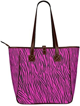 InterestPrint Top Handle Satchel HandBags Shoulder Bags Tote Bags Purse Peace Plaid Purple