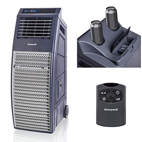 Honeywell Outdoor Portable Evaporative Cooler with Remote Control Home Comfort, 830 CFM, Gray - Jumbo Dual Timer