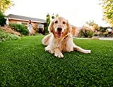Efivs Arts Artificial Grass Indoor/Outdoor Area Rug Lawn Mat for Party Decoration Pet Fake Grass Turf Nursery Area Carpet, 6.5 x 8 Feet