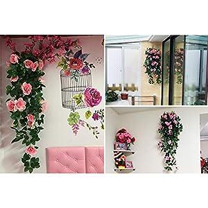 Forart Artificial Wisteria Long Hanging Bush Flowers Bougainvillea Hanging Basket Decorative Silk Plant for Home Wedding Decoration Arrangement 3