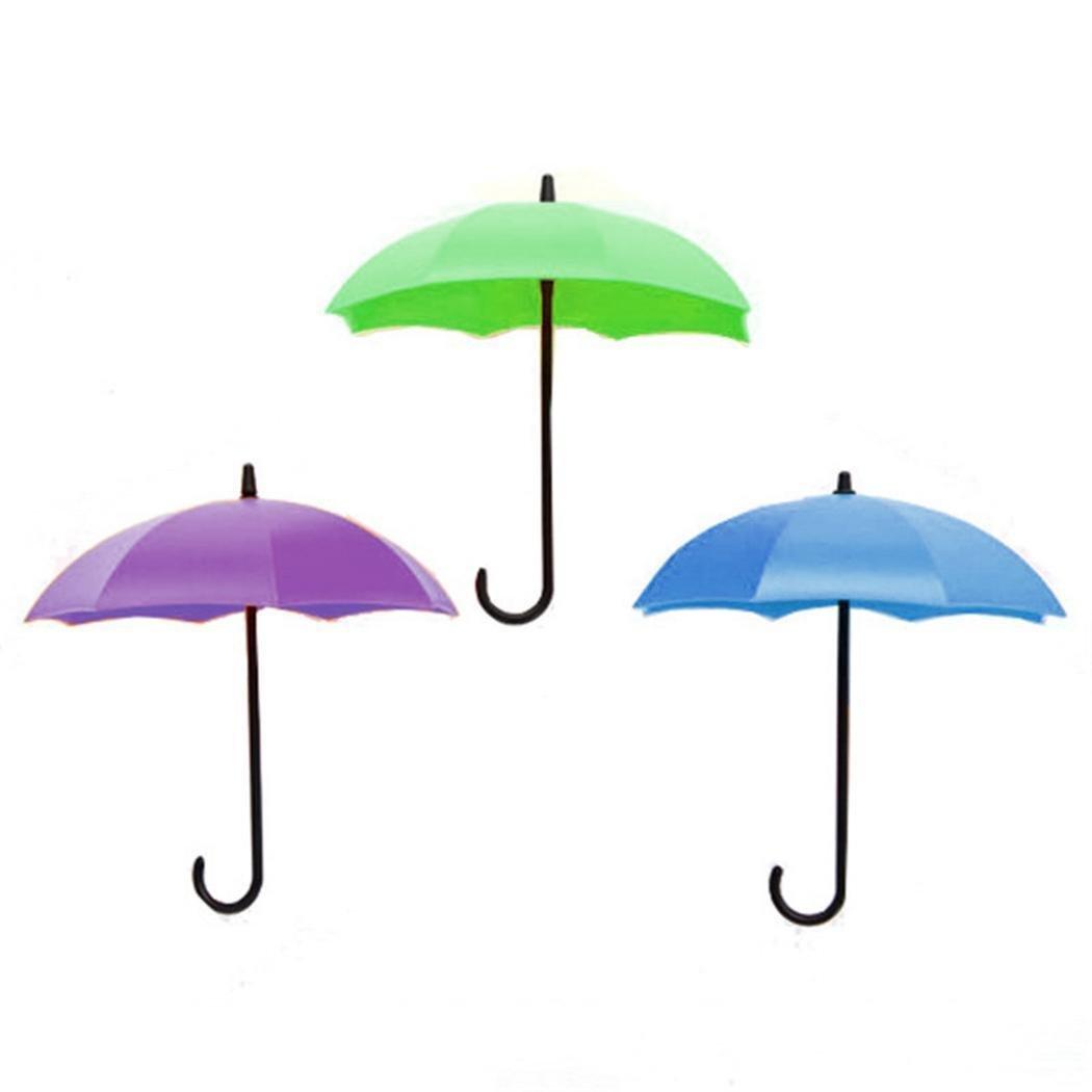 Etuoji Umbrella Wall Hooks Decoration Hanger Key Rack Holder Bathroom Kitchen Organizer Utility Hooks