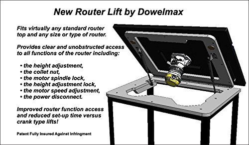 Dowelmax router table lift