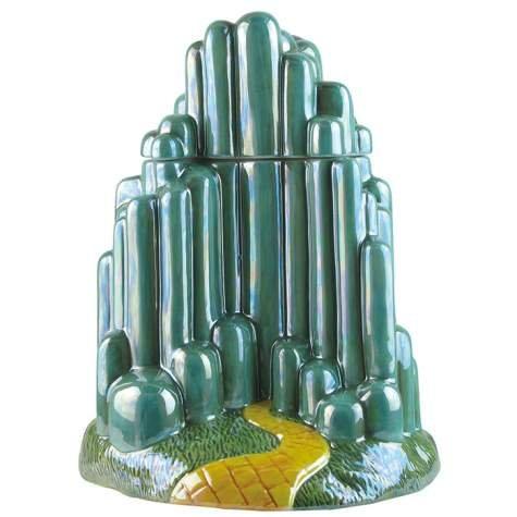 Westland Giftware Emerald City Ceramic Cookie Jar, Multicolor