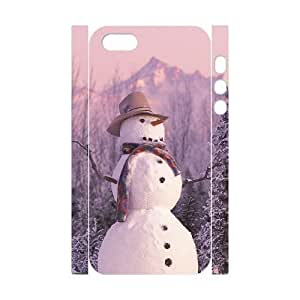 QNMLGB Hard Plastic of Snowman Cover Phone Case For iPhone 5,5S [Pattern-1]
