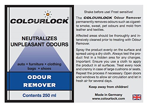 colourlock odour remover spray for leather and textiles to remove the smell of mold smoke. Black Bedroom Furniture Sets. Home Design Ideas
