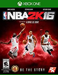 The NBA 2K franchise is back with the most true-to-life NBA experience to date with NBA 2K16. Guide your MyPLAYER through the complete NBA journey, take control of an entire NBA franchise, or hone your skills online competing against g...