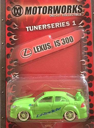 Tuner Series 1 Lexus IS300 Lime Green Coupe 1/64 Die-Cast ()