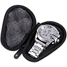 WATCH BOX Protective Watch Case For Stainless Steel Metal Band Mens and Womens Watches - Up to 56MM