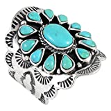 Sterling Silver Genuine Turquoise Ring Size 6 to 10