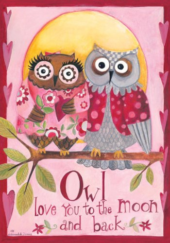 Owl-Love-You-Happy-Valentines-Day-Double-Sided-GARDEN-Size-Decorative-Flag-12-X-18-Inches