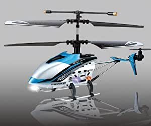 """(BLUE) 4 ch Indoor Infrared Remote Control Helicopter """"DRIFT KING"""" with Gyroscope"""