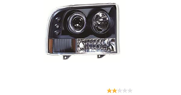 IPCW CWS-500C2 Clear Projector Headlight with Rings Pair Corners and Chrome Housing with Amber Reflector