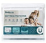 Bedsure 100% Waterproof Mattress Protector King Size Terry Cotton Deep Pocket Hypoallergenic Mattress