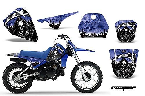 Yamaha PW80 1996-2006 MX Dirt Bike Graphic Kit Sticker Decals PW 80 REAPER BLUE