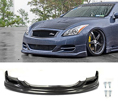 Fit 08-14 Infiniti G37 2Dr Coupe TS Style Front Bumper Lip Spoiler - PU Urethane - 09 G37x Front Bumper