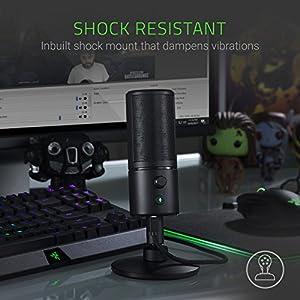 Razer Seiren X - Professional-Grade High-Definition Studio Sound USB Digital Condenser Microphone - Optimized for Streaming Twitch/Youtube - Built-In Shock Mount