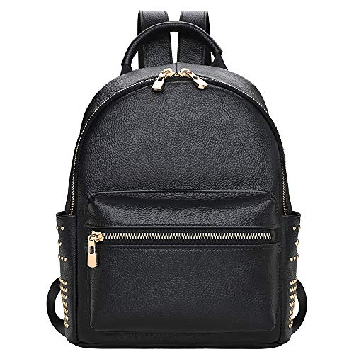 (Genuine Leather Backpack Purse For Women Fashion Casual Daypack Ladies Rucksack -)