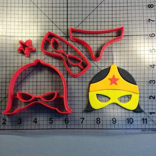 Super Hero máscara 101 Cookie Cutter Set: Amazon.es: Hogar