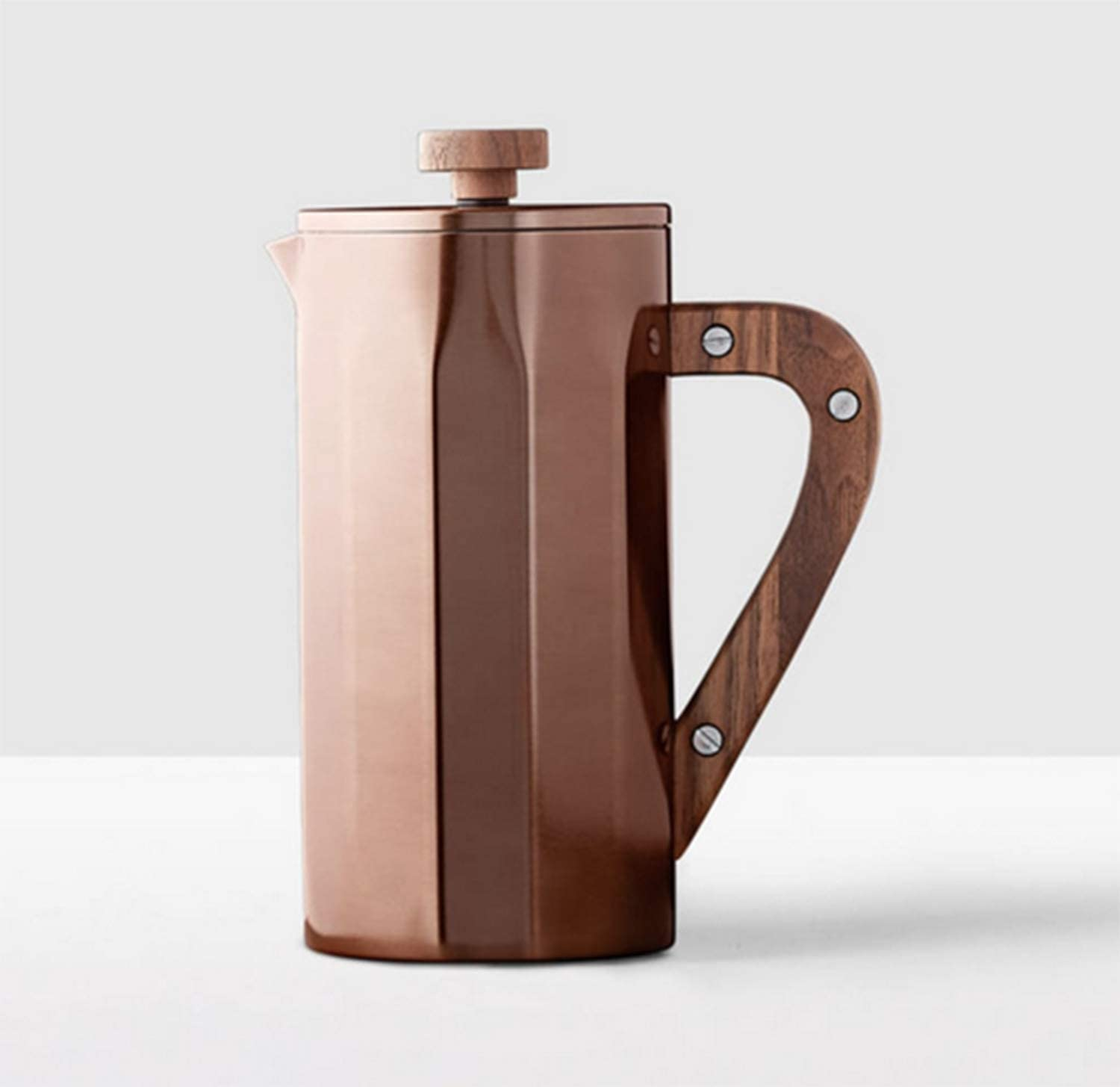 Starbucks Stainless Steel Coffee Press with Walnut Handle – Copper, 8-cup