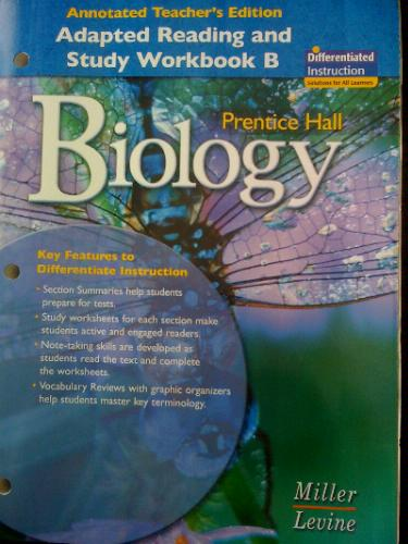 Workbook differentiated instruction worksheets : Prentice Hall Biology: Adapted Reading and Study Workbook B ...