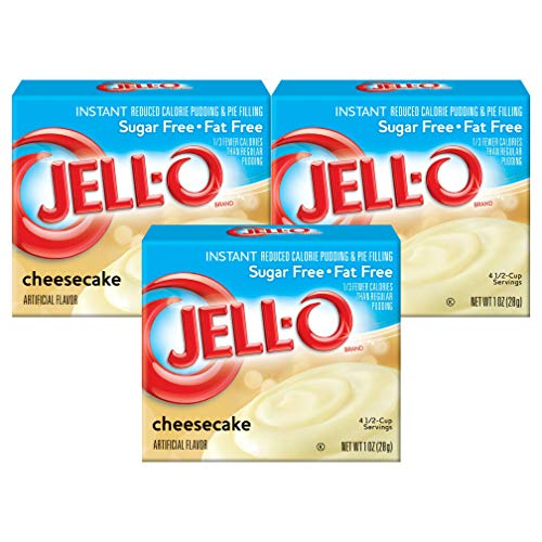 - Jell-O Instant Cheesecake Sugar Free Pudding, 1 OZ ( Pack of 3)
