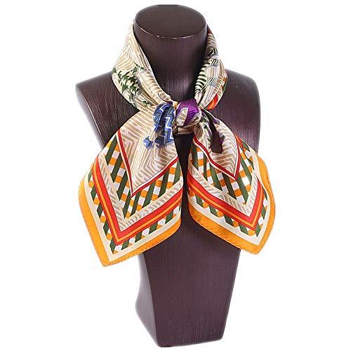 - Zhouminli Indian Mandala Round Beach Towel Scarf 52cm Silk Multi-Functional Decorative Silk Scarf Women's 100% Silk Cartoon Square (Color : Color3)