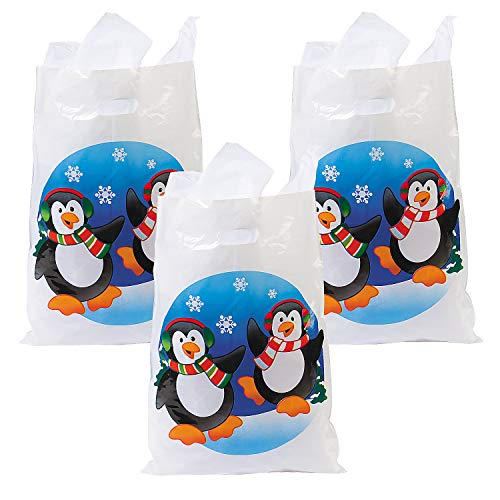 c Penguin Bags (50pc) for Christmas - Party Supplies - Bags - Plastic Bags - Christmas - 50 Pieces ()