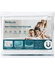Bedsure 100% Waterproof Mattress Protector Queen Size (60 x 80 inches) - Terry Cotton Hypoallergenic Mattress Cover, 18 Deep Pocket, White