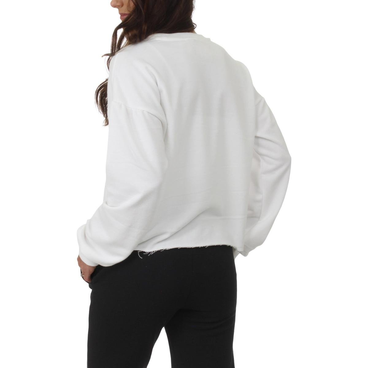 Juicy Couture Womens French Terry Logo Sweatshirt White XL by Juicy Couture (Image #2)