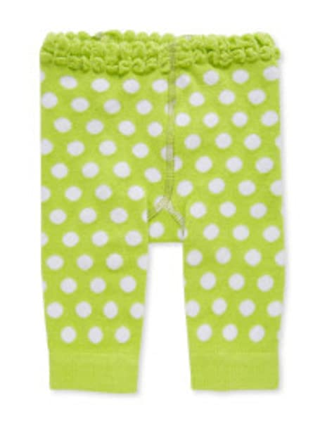e4ae74fdd4819 Image Unavailable. Image not available for. Color: 12-18 Month Light Green/ White Polka Dot Legging