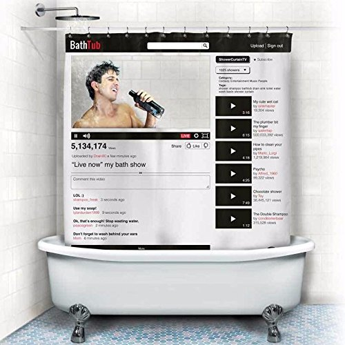 youtube shower curtain - 2