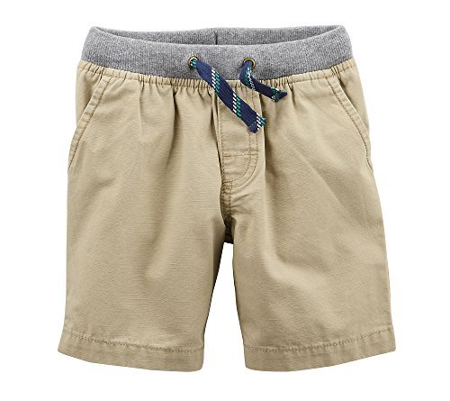 Carter's Baby Boys' Easy Pull-On Dock Shorts Khaki 6 Months