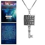 Blue White Shop King Solomon Path Clearing Seal Key Pendant Kabbalah Amulet Silver 925