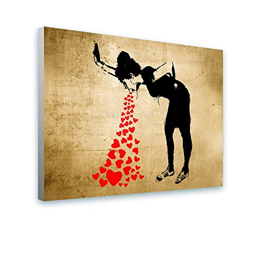Alonline Art - Girl Lovesick Banksy PRINT On CANVAS (100% Cotton ...