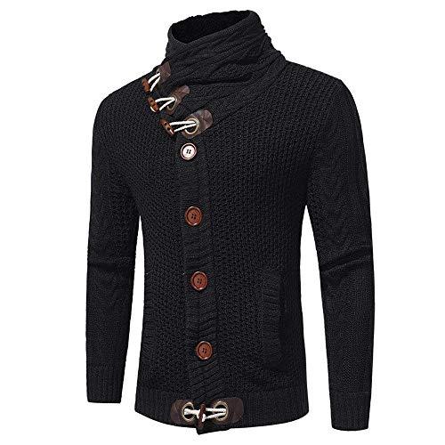 Hiver Manteau Casual Vest Jeune Homme Pull Tricot Cardigan Schwarz Elodiey Le Pulls Automne Haut Col Vestes EqH61cpB