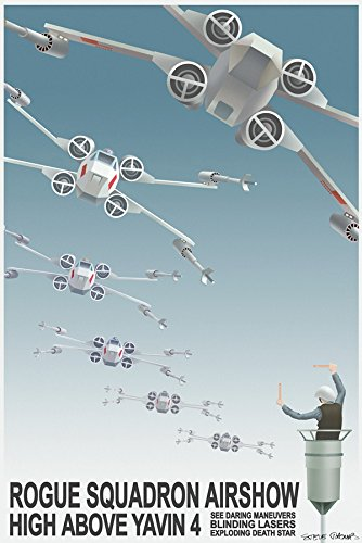 "Star Wars Limited Edition Gem Canvas""Rogue Squadron Airshow"" by Steve Thomas 12"" x 18"""
