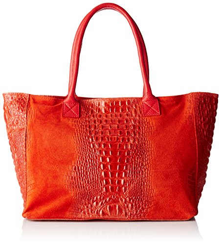 Chicca Borse 80042, Borsa a Mano Donna, 53x30x16 cm (W x H x L) Rosso